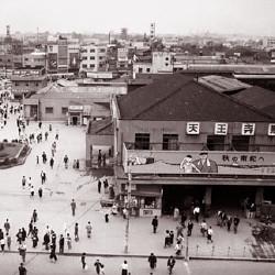 大阪・天王寺駅(昭和34年)