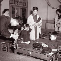 小学校の入学式(昭和33年)
